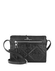 Nanette Lepore Highland Park Leather Crossbody Black