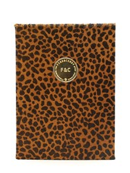 Fineandcandy Lynx Printed Ponyskin Notebook