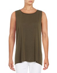 Eileen Fisher Petite Boat Neck Tank Top Surplus