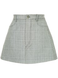 Dion Lee Checked Mini Skirt Black