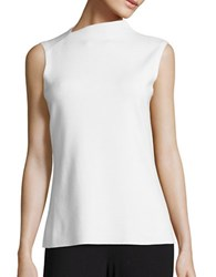Lafayette 148 New York Sleeveless Blended Top White