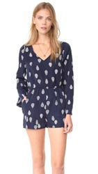 Cupcakes And Cashmere Harley Pieces Of Paisley Romper Ink