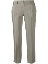 Versace Collection Cropped Pants Grey