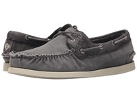 Sperry A O 2 Eye Wedge Canvas Grey Men's Lace Up Casual Shoes Gray