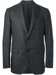 Ermenegildo Zegna Two Button Blazer Black