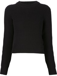 T By Alexander Wang Chunky Knit Sweater Black
