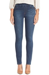 Liverpool Jeans Company Petite Women's 'Sienna' Pull On Knit Denim Leggings Petrol Wash