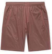 Acne Studios Romeo Nylon Ripstop Shorts Red