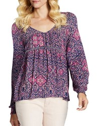 Jessica Simpson Marisol Peasant Blouse Red