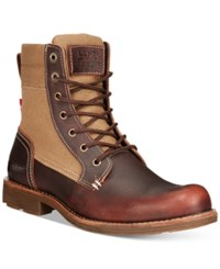 Levi's Lex Tall Canvas Boots Men's Shoes Burgundy