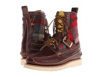 Yuketen Maine Guide Db Boots W Strap Quilt Red Men's Boots Brown