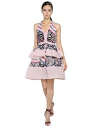 Peter Pilotto Ruffled Organza And Brocade Dress