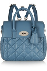 Mulberry Cara Delevigne Mini Quilted Leather Backpack