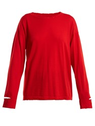 Barrie Sweet Eighteen Cashmere Sweater Red