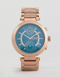 Versus By Versace Star Ferry S7908 Bracelet Watch In Rose Gold Rose Gold