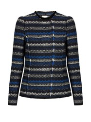 Rebecca Taylor Variegated Tweed Jacket Navy Multi