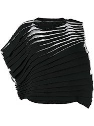 Comme Des Garcons Junya Watanabe Layered Pleated T Shirt Black