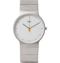 Braun Bn0211 Classic Slim Stainless Steel Watch Silver