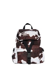 Burberry Cow Print Nylon Backpack Brown