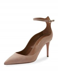 Aquazzura Dolce Vita Suede 85Mm Pump Light Beige Neutral