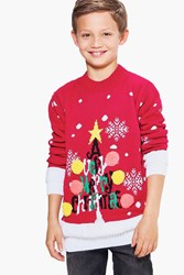 Boohoo Merry Christmas Jumper Red