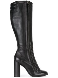 Diesel Knee High Boots Black