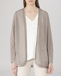 Reiss Cardigan Coral Shimmer Open