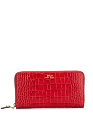 Polo Ralph Lauren Crocodile Effect Wallet Red