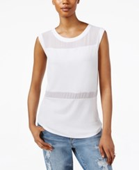 Rachel Rachel Roy Sleeveless Illusion Top White