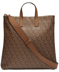 Dkny Large Signature Satchel Created For Macy's Mocha Brown