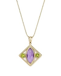 Bloomingdale's Amethyst And Peridot Pendant Necklace In 14K Yellow Gold 17 100 Exclusive Multi Yellow
