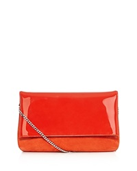 Karen Millen Brompton Patent And Suede Shoulder Bag