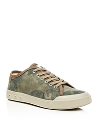 Rag And Bone Standard Issue Lace Up Sneakers Camoflauge Green