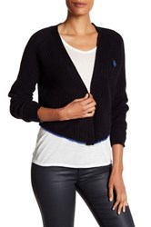 Zadig And Voltaire Monday Pointelle Cashmere Cardigan Black