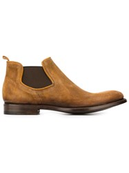 Alberto Fasciani Elasticated Sides Flat Ankle Boots Brown