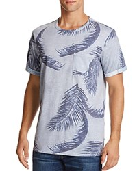 Sovereign Code Qusay Palm Leaf Graphic Tee Gray Navy