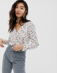 Esprit Shirt With Diamond Print In Off White