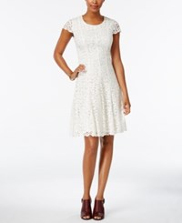 Tommy Hilfiger Lace Fit And Flare Dress White