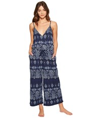 Lucky Brand Printed Jumpsuit Black Iris Women's Jumpsuit And Rompers One Piece