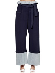 Philosophy Di Lorenzo Serafini Oversize Cotton Sweatpants Blue