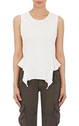 Nsf Women's Ruffled Hem Lea Tank White