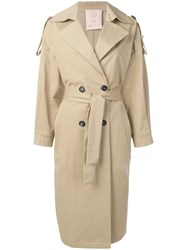 Tela Oversized Trench Coat Neutrals
