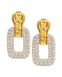 Pois Moi Diamond Square Dangle Drop Earrings Yellow Gold Roberto Coin Red