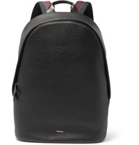 Paul Smith Textured Leather Backpack Black