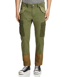 Scotch And Soda Color Block Cargo Pants Green