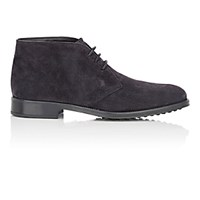 Tod's Men's Suede Chukka Boots Navy