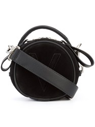 Valas Micro Jean Bag Women Leather Suede One Size Black