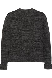 Enza Costa Cable Knit Wool And Cashmere Blend Sweater