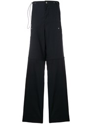 Lanvin High Waisted Cargo Trousers Blue