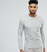 Selected Homme Tall High Neck Sweat Egret Grey